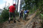 Unter Anleitung von erfahrenen Projektleitern und Fachpersonen führen Freiwillige verschiedene Arbeiten im Hilfernthal in der Gemeinde Escholzmatt-Marbach durch. (Bild: PD)