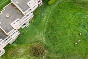 Bebautes und unbebautes Land in einem Quartier der Stadt St.Gallen. (Bild: Benjamin Manser)