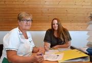 Pflegefachfrau Susanne Schwager und Karin Eggenberger, Geschäftsführerin der Spitex Wängi, arbeiten Hand in Hand für das Wohl ihrer Kunden.