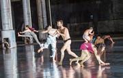 Szene aus der Tanzperformance «10'000 gestes» des französischen Tänzers und Choreografen Boris Charmatz. (Bild: Tristram Kenton)