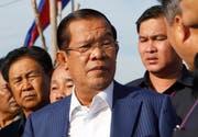 Kambodschas Ministerpräsident Hun Sen. Bild: Heng Sinith/AP