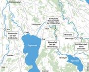 Unsere Karte zeigt die fünf ausgewählten Badeplätze.