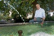 Trotz Seeanstoss müssen die Weggiser Wasser sparen – im Bild Gemeindepräsident Roger Dähler. (Bild: Corinne Glanzmann (3. August 2018))