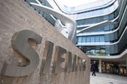 Der Siemens-Hauptsitz in München. (Bild: Lukas Barth/EPA, 2. August 2018)
