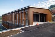 Der Haupteingangsbereich zum neuen Schulhaus.