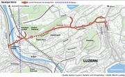 Geplante Verkehrsführung der Spange Nord in Luzern.