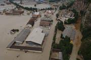 Prägte die Zeit als Feuerwehrinspektor: Das Unwetter 2005 mit Hochwasser im Urner Talboden. (Bild: Bruno Achermann)
