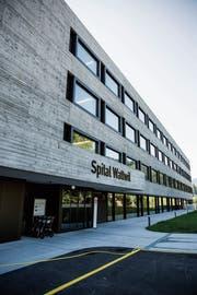 In wenigen Tagen startet am Spital Wattwil die zweite Bauetappe. (Bild: Mareycke Frehner, Wattwil, 26.7.2018)