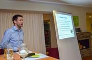 Gewerbepräsident Adrian Brühwiler zeigt seinen Mitgliedern Ideen und Pläne des Vorstandes.
