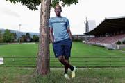 Geoffroy Le Bigonsan will im Zuger Fussballstadion noch für Furore sorgen. (Bild: Werner Schelbert (30. August 2018))