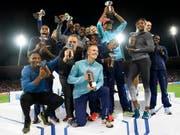 Die Diamond-League-Sieger von Weltklasse Zürich 2017 (Bild: KEYSTONE/JEAN-CHRISTOPHE BOTT)