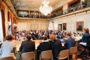 Die letzte Grossratssitzung unter Präsidentin Heidi Grau Ende Mai 2018. (Bild: Donato Caspari)
