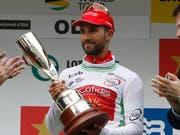 Nacer Bouhanni - hier nach seinem Sieg in der Katalonien-Rundfahrt - der Spurtsieger in San Javier (Bild: KEYSTONE/EPA EFE/QUIQUE GARCIA)