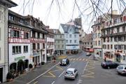 In der Arboner Altstadt sollen künftig Fussgänger Vortritt haben. (Bild: Max Eichenberger)
