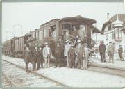 Der Salonwagen der Seethalbahn beim Bahnhof Münster. (Bild: PD/1913)