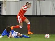Ana Maria Crnogorcevic muss sich für das Schweizer Nationalteam ins Zeug legen (Bild: KEYSTONE/AP/PETROS KARADJIAS)