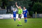 Schiedsrichter Sascha Büsch während der 3.-Liga-Partie St.Otmar gegen Gossau II.(Bild: Michel Canonica )