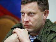 Bei einer Bombenexplosion ist der prorussische Rebellenanführer Alexander Sachartschenko getötet worden. (Bild: KEYSTONE/EPA/ALEXANDER ERMOCHENKO)