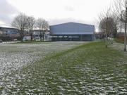 Auf dieser Wiese ist soll der Pavillon platziert werden.