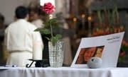 Trauerfeier im Jahr 2009 für die getötete Boi in der Pfarrkirche Schwyz. (Archivbild Geri Holdener)