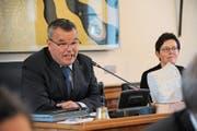 Landratspräsident Peter Tresch aus Göschenen amtiert bis im Juni 2019 als höchster Urner. (Bild: Archiv UZ)