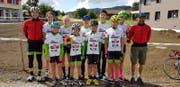 Die Delegation der IG Radsport Uri an den Innerschweizer Strassenmeisterschaften in Rickenbach. (Bild: PD)