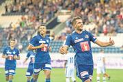 Es läuft wieder rund: Matchwinner Pascal Schürpf (rechts) jubelt in der Swisspor-Arena. (Bild: Pius Amrein (Luzern, 4. August 2018))