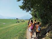 Wanderung der Auslandschweizer Kinder nach Luzern. (Bild: PD (3.8.18))