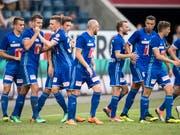 Die Luzerner sind endlich auch in die Meisterschaft gestartet (Bild: Keystone/URS FLUEELER)