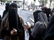 Erstmals ist in Dänemark eine Frau wegen eines neues Gesetzes bestraft worden - sie hat in der Öffentlichkeit einen sogenannten Nikab getragen. (Bild: KEYSTONE/EPA SCANPIX DENMARK/MADS CLAUS RASMUSSEN)