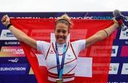 Jeannine Gmelin hat gut lachen: Nach WM-Gold und dem Gesamtweltcup gewann die Zürcherin auch den EM-Titel (Bild: AP Photo/Darko Bandic)