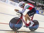 Claudio Imhof gewinnt in Glasgow EM-Bronze in der Einzelverfolgung (Bild: KEYSTONE/AP dpa/JENS BUETTNER)
