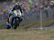 Tom Lüthi fehlten in Brünn rund 4,5 Sekunden zum ersten WM-Punkt in der MotoGP-Kategorie (Bild: KEYSTONE/AP/PETR DAVID JOSEK)