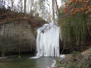Ein Naturspektakel: der Hohlenstein bei eisigen Temperaturen. (Bild: Andrea Hilber-Lehner)