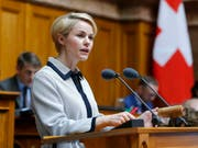 Die SVP-Nationalrätin Natalie Rickli will für den Zürcher Regierungsrat kandidieren. (Bild: KEYSTONE/PETER KLAUNZER)