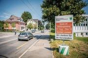 Die Rorschacher Strasse wird mit einem Lichtsignal ausgestattet. Die Arbeiten auf Höhe Naturmuseum beginnen am Montag. (Bild: Urs Bucher)