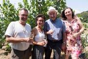 Andreas und Barbara Schneller mit Otto Pfaffhauser aus Niederneunforn und Sibylle Reusser aus Altikon. (Bild: Andreas Taverner)