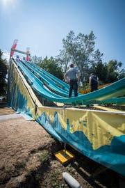 Der Summerslide in Steckborn musste am Samstag nach mehreren Unfällen abgesagt werden. (Bild: Reto Martin)