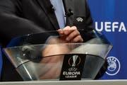 Europa League: Die Gegner für die Playoffs wurden am Montag in Nyon ausgelost (Bild: Salvatore Di Nolfi / Keystone)