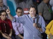 Fernando Haddad ist von der Arbeiterpartei in Brasilien zum Vizepräsidentschaftskandidaten für den inhaftierten Ex-Präsidenten Luiz Inácio Lula da Silva ernannt worden. (Bild: KEYSTONE/EPA EFE/SEBASTIAO MOREIRA)