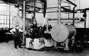 Die erste Kühlapparatur wurde von Willis H. Carrier erfunden. Zu sehen ist sie 1922 in Syracuse, N.Y. (Bild: Provided by Carrier Corporation)