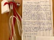 Mit diesem Brief sucht eine 48-jährige Frau nach einem Partner. (Bild: Facebook)