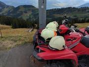 Auch die Arther Feuerwehr war vor Ort. (Bild: Geri Holdener/Bote der Urschweiz)