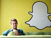 Kann sich trotz weniger Nutzer freuen: Snap-Chef Evan Spiegel. (Bild: KEYSTONE/AP/JAE C. HONG)