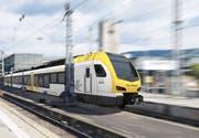 Visualisierung eines Stadler-Flirts, wie er für das Stuttgarter Netz gebaut wird. (Bild: PD)