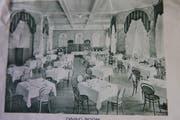 So präsentierte sich der Esssaal im Seelisberger Hotel Sonnenberg vor 150 Jahren. (Bild: Archiv Christoph Näpflin)
