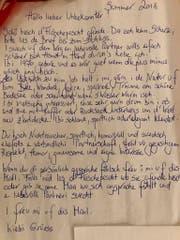 Der Brief ist im Dialekt verfasst. (Bild: Facebook)