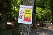 Das Feuerverbot gilt bis auf weiteres und muss konsequent eingehalten werden. Bild: Keystone