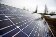 Der Monat Juli war besonders geeignet für die Gewinnung von Solarstrom. (Bild: Urs Jaudas)