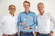 Von links nach rechts: Richard Kobler, Sean Prescott und Alex Fancelli von Unity Investment. (Bild: PD)